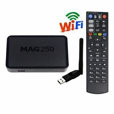 MAG 250 IPTV STB Multimedia Player Internet Linux TV Box + WiFi USB Antenna US!