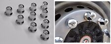 x20 33mm LONG CHROME PLASTIC WHEEL NUT BOLT CAPS TRUCK LORRY TRAILER BUS COVERS