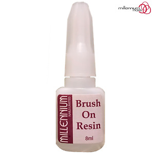 Millennium Nails Fibreglass/Silk 8ml Quick Brush on Resin with Applicator Brush