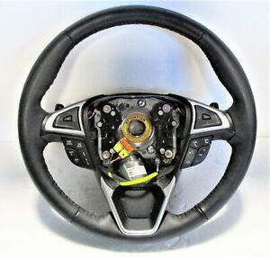 2015-2018 Ford Edge OEM Black Leather Steering Wheel w Paddles G2GZ-3600-BJ