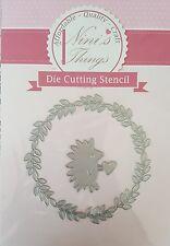 Hedgehog & Wreath animal cutting stencil set fancy dies Elegant scrapbook