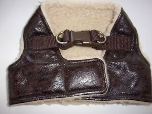 step-in faux LEATHER Body Harness Vest XS M L XL New Pet Dog no choke free Large