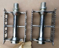 Pair of 1970's Lyotard Steel Caged Pedals NOS