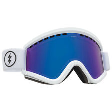 Electric EG V Ski Snowboard Goggles- Gloss White Brose/ Blue Chrome