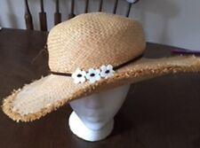 Womens Lady Hat L.E.I. sun pool beach sunscreen straw