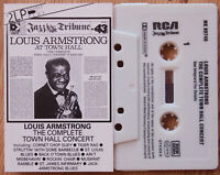LOUIS ARMSTRONG - COMPLETE TOWN HALL CONCERT (RCA NK89746) 1983 EUROPE CASSETTE