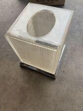 Mid Century Modern Kleenex Tissue Box Cover clear Acrylic Polished Steel Vintage