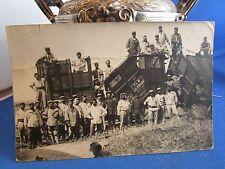cpa photo train déraillement militaire 1918 catastrophe ferroviaire