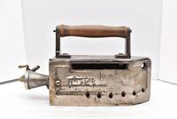 OLD TAILOR NATURAL GAS SAD IRON BY ROSEBAUM MFG CO NEW YORK ANTIQUE VINTAGE