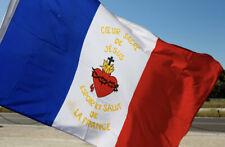 Drapeau Sacré-Coeur de Jésus français France catholique flag bandiera French roi