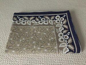 "WILLIAMS SONOMA cotton block print FALL French Provencal Tablecloth 70"" x 108"""