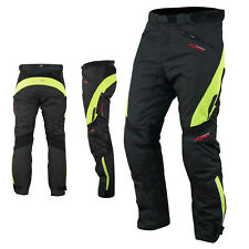 Waterproof Motorcycle Motorbike Textile Ladies Cordura Trousers Fluo Size 36