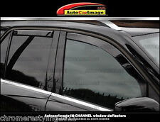 IN-CHANNEL RAIN GUARDS WIND DEFLECTORS FITS NISSAN ROGUE 2014-2016