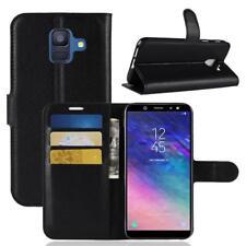 Funda para el Samsung Galaxy A6 2018 Libro Cover Wallet Case-s bolsa Negro
