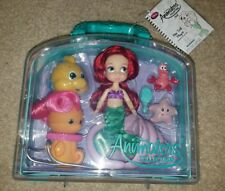 New Disney Parks Animators' Ariel Little Mermaid Doll Figure Mini Playset