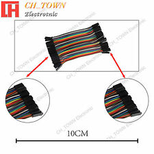 40pcs 10cm Dupont Wire Female To Female Breadboard Jumper Wires Ribbon Cable Usa