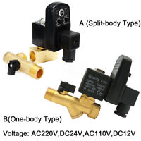 """Automatic Electronic Timed Air Compressor Condensate Auto Drain Valve 1/2"""" Bsp"""