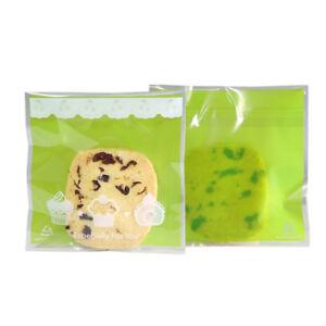 100PCS Designs Small Cookies & Macaroons Treat Gift Bags Self Adhesive 10x10+3cm