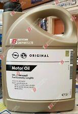 VAUXHALL 5w 30 GENUINE GM DEXOS 2 C3 5 LITRE VW FULLY SYN ENGINE OIL
