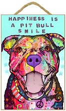Pitbull Sign – Happiness is a Pitbull Smile 7 x 10.5