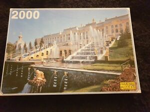 Fame Puzzles 2000 Pieces Jigsaw Puzzle Complete Vintage