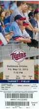 2013 Twins vs Orioles Ticket: Orioles score 3 runs in 10th, rally past Twins