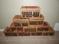 Lot of 10 Box Marvel Collector Corps Funko Pop Exclusive Set Avengers Deadpool