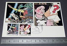 CARTE POSTALE 1er JOUR PHILATELIE 1988 MEZIERES TARDI BD BANDES DESSINEES