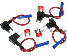 5X Standard Add A Circuit Fuse Tap Piggy Back Blade Holder ATO ATC 12V 24V UK