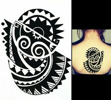 Tribal Black Tattoo Temporary Tribal Body Art Arm Shoulder Aztec Polynesian