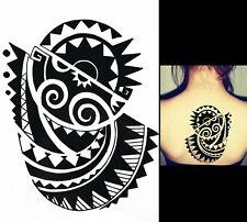 Tatuaje Tribal Negro temporal Tribal Body Art Brazo Hombro Azteca Polinesia