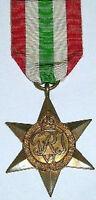 100% GENUINE FULL SIZE WW2 ITALY STAR, WITH FREE UK POSTAGE