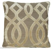 Beige Cushion Cover Osborne & Little Velvet Fabric Du Barry Throw Pillow Case