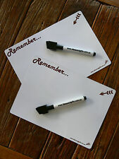 2x A5 Whiteboard Fridge Magnet Family Message Notes Office Memo Reminder 2Pens