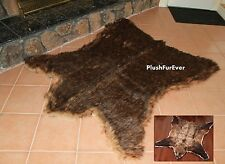 Lodge Cabin Brown Grizzly Bear 5' x 6' Throw Rug Cottage  Area Rug