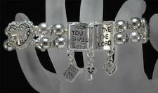 Love the Lord Silver Tone Stretch Bracelet