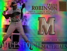 2002 TOPPS TRIBUTE MILESTONE MATERIALS , FRANK ROBINSON  BAT, ORIOLES  ,BOX 16 !