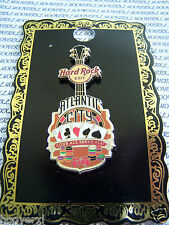2010 HARD ROCK CAFE ATLANTIC CITY T CORE GUITAR V8 PIN/CARDS/CHIPS/DICE