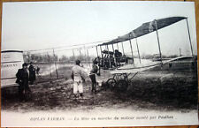 1915 French Aviation Postcard: 'Biplan/Biplane Farman - Monte par Paulhan'