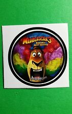 "MADAGASCAR LION EUROPE'S MOST WANTED MOVIE GETGLUE GET GLUE SMALL 1.5"" STICKER"