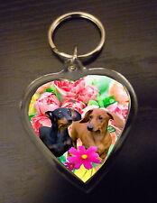 Dachshund Keyring Dog Key Ring heart shaped gift Dachsunds Birthday Gift