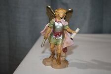 """Vintage 5"""" Fontanini Male Angel with Sword Scroll Messenger"""