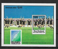 New Zealand:1991:Rugby World Cup.M/S.MNH