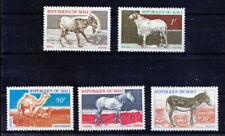 Mali 1969 5v, Mint Fine Hinged, Farm Animals, Sheep, Goat, Donkey, Camels, Horse