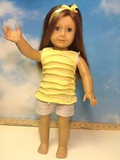 """American Girl 18"""" DOLL Truly Me Light BLONDE/Red  Hair  Blue Eyes(7)"""