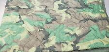 Military Issued Woodland Poncho Liner - Used