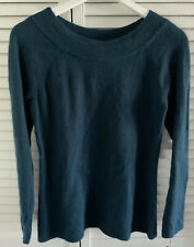 New Susan Bristol Forest Spruce Blue Green Sweater Wool Angora M