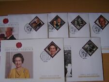 Gibraltar, 6 différents 2010 Lifetime of Service, royauté, fdc covers, excellent.