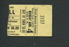 1975 Jethro Tull concert ticket stub Shreveport LA Minstrel In The Gallery Rare