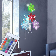 Lampe de luxe LED fleurs applique murale interrupteur dimmable RGB TELECOMMANDE